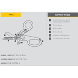 Leatherman Raptor® chart