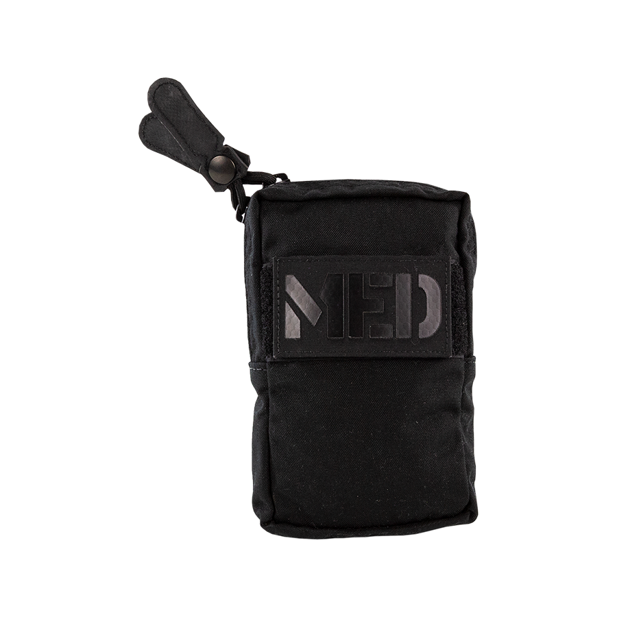 Symmetrical Zipper Saddle Bag black