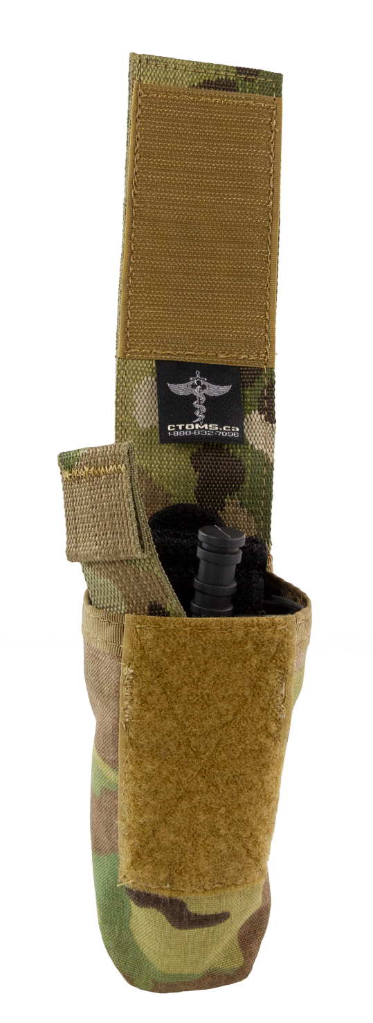 Tourniquet Pouch with Molle, Gen III - Snap Closure tab open