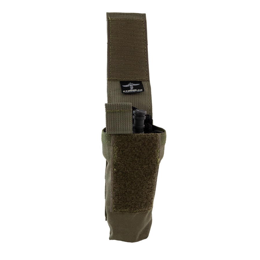 Tourniquet Pouch with Molle, Gen III - Snap Closure tab ranger green open