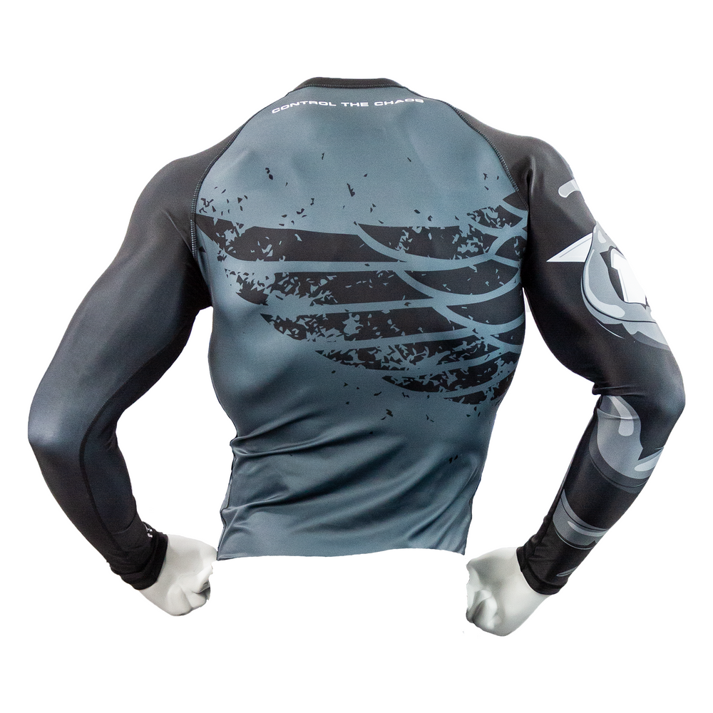 "CTOMS Rash Guard, ""Who Dares Wins"" mannequin back"