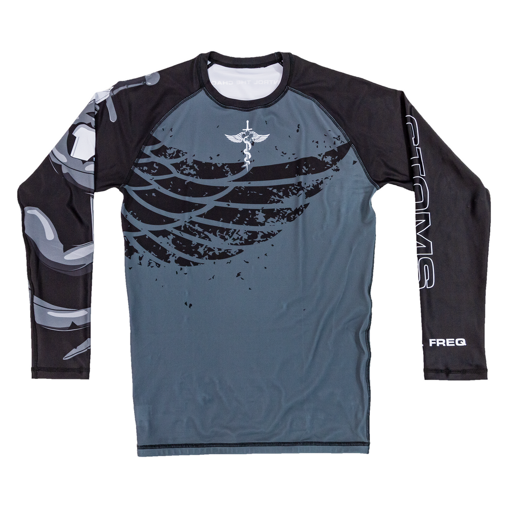 "CTOMS Rash Guard, ""Who Dares Wins"" front"