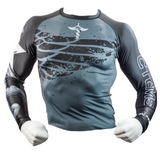 "CTOMS Rash Guard, ""Who Dares Wins"" mannequin front"