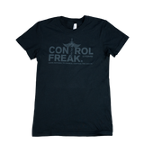"CTOMS Ladies ""Control Freak"" Classic T-Shirt, Black"