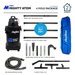 SkyVac Mighty Atom Clamped Pole 4 Pole Package