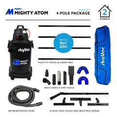 SkyVac Might Atom Push Fit Poles 4 Pole Package