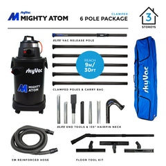 SkyVac Mighty Atom Clamped Pole 6 Pole Package