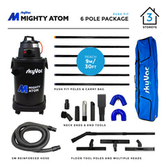 SkyVac Mighty Atom Push Fit Poles 6 Pole Package