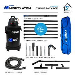 SkyVac Mighty Atom Clamped Pole 7 Pole Package