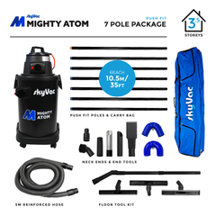 SkyVac Mighty Atom Push Fit Poles 7 Pole Package
