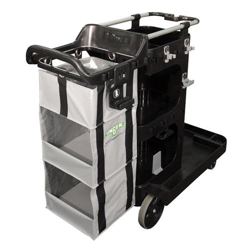 Unger RestroomRx Cleaning Double Supply Cart