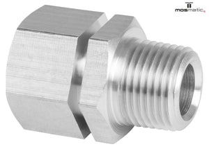 "Mosmatic break away fitting IN 3/8""NPTM OUT 3/8""NPTF 5800psi brass 19.009"
