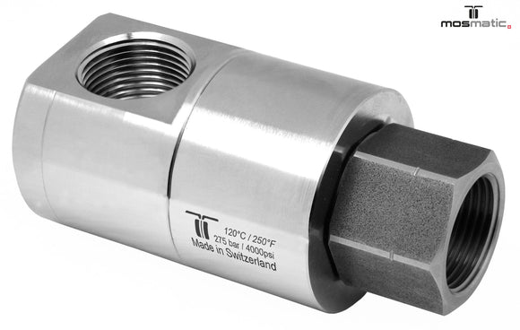 Mosmatic rotary unions DGE swivel 90 degrees G1 1