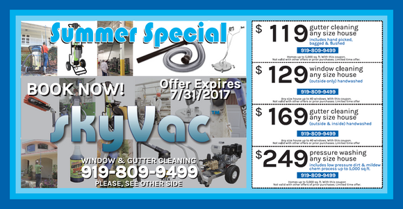 SkyVac Mailer Summer Sale