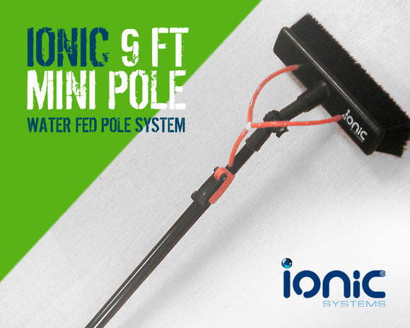 Ionic Systems 9Ft Mini Pole - 2 Sections - Complete with Brush & Angle Crank