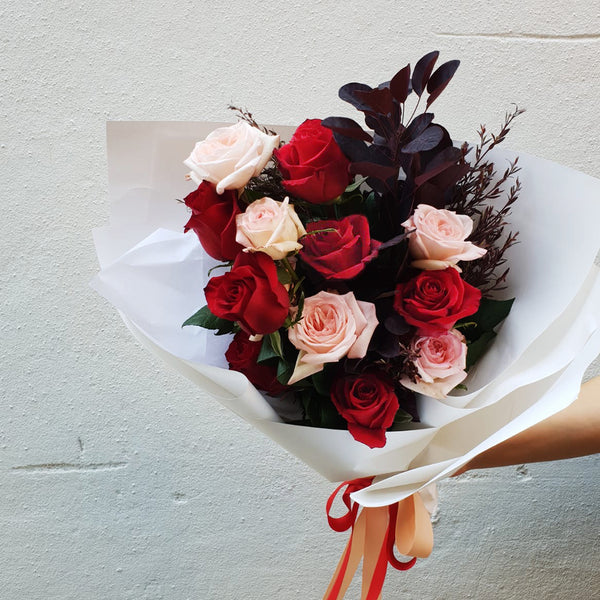 Pink and red rose bouquet - nothing compares to you