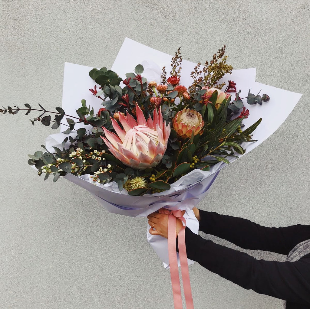 Order King Protea Bouquet Online Melbourne Same Day delivery