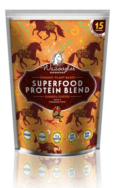 Wazoogles Superfood Protein Blend Kung-Fu Coffee with a Cinnamon Kick
