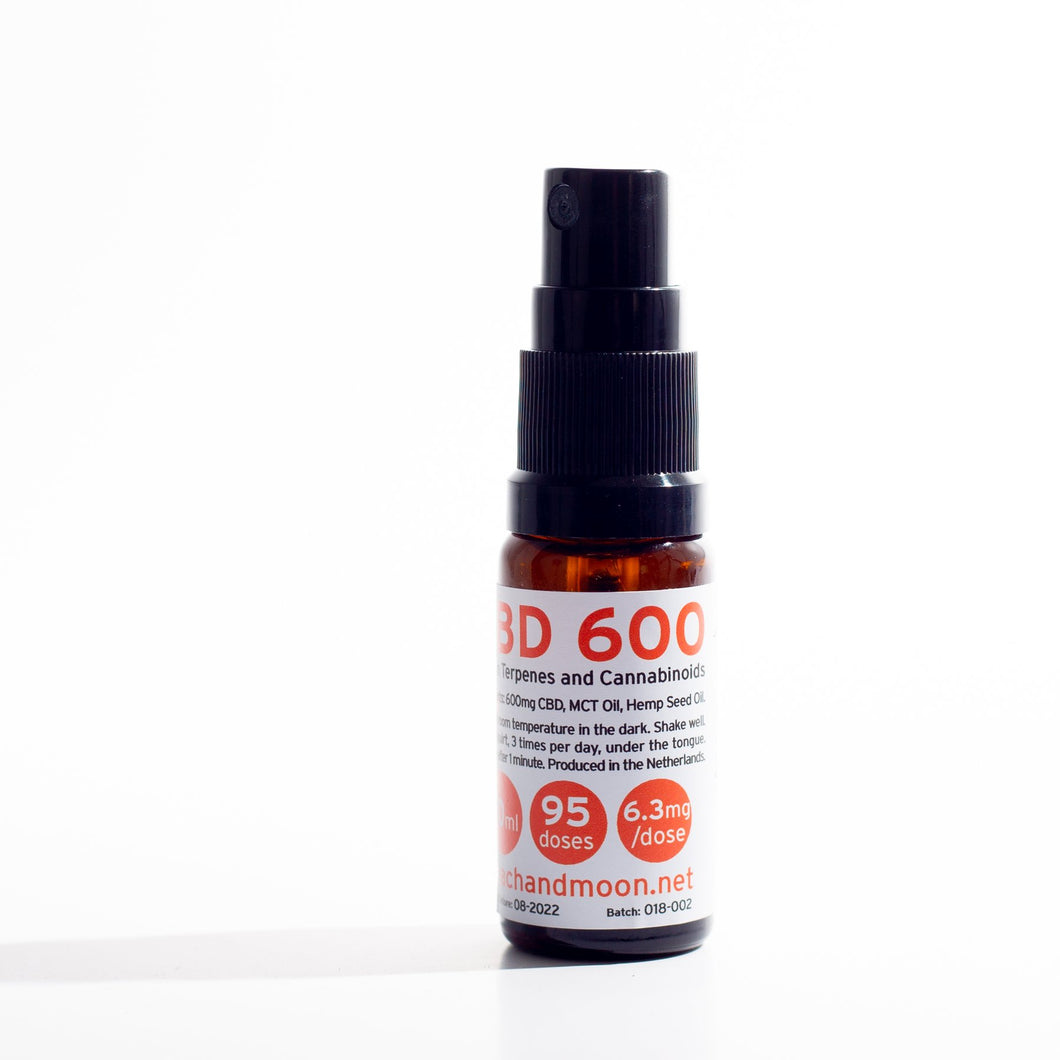 Peach & Moon CBD 600 10ml 600mg