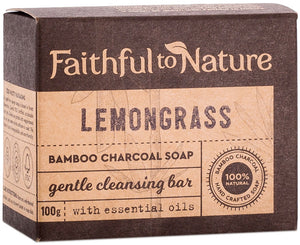 Faithful to Nature Bamboo Charcoal Soap Lemongrass