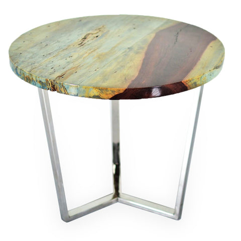 321271 Grada Side Table - Suar wood & Stainless Side Table