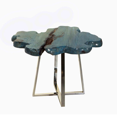321275 Blue Ocean Side Table - Suar wood & Stainless