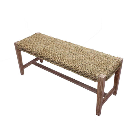321300	Seagrass Bench - Whitewash & Natural Seagrass