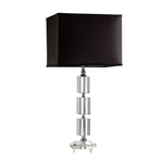 329005 Crystal Block Lamp with Black