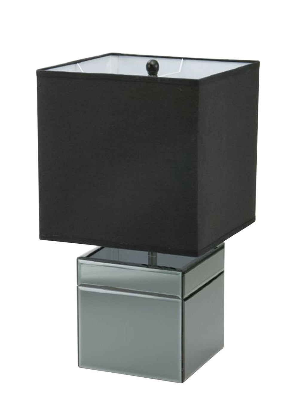 463001	Black Mirror Lamp with Black Shade