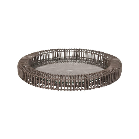 466031/ 466032 Gray Wicker Spoke Tray