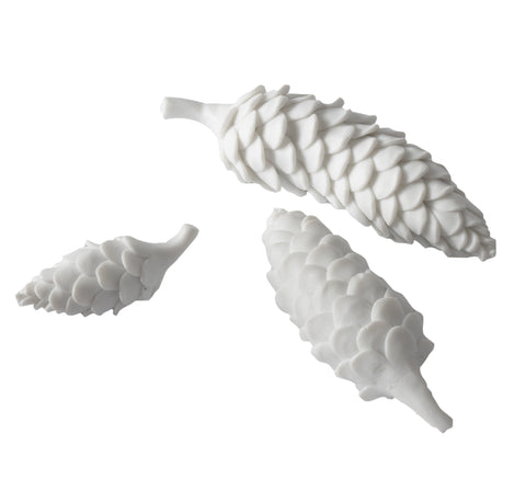 724027 White Porcelain Pine Cone - md