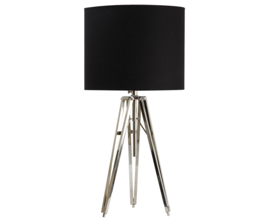 726001 Metal Tripod Lamp w/ Various Shades