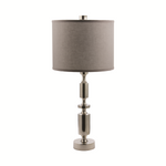 726003 Silver Barbell Lamp- - Various shades are available