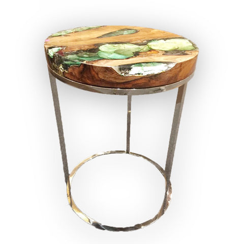 321036 Round GREEN Side Table