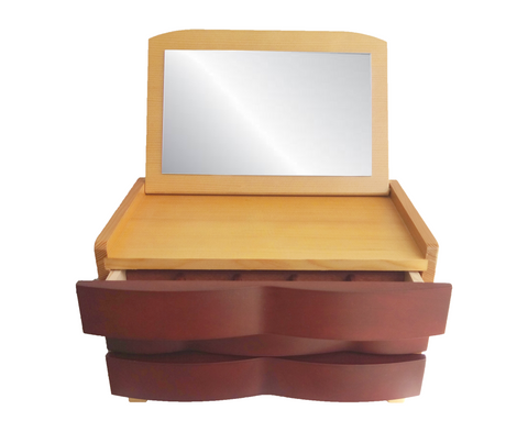Merlot Wave Jewellery Box & Mirror