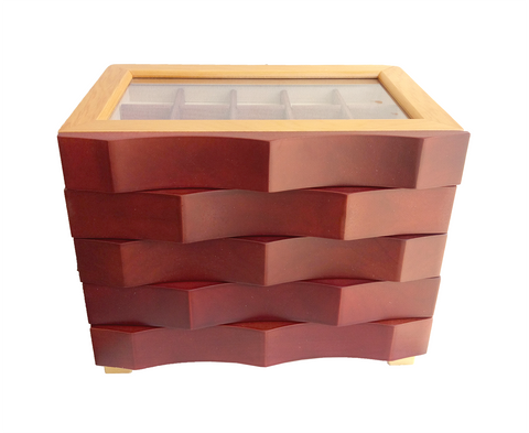 Merlot Wave Jewellery Box