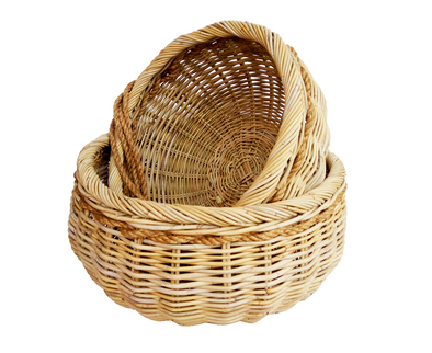 160370	S/2 Oversized Rattan Baskets