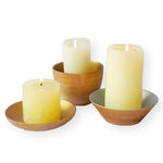 S190025 Set of 3 Wood Candle Cups