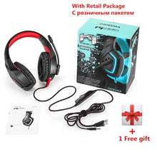 Load image into Gallery viewer, ONIKUMA PC Gaming LED Headphones with Omnidirectional Microphone 3.5 mm Stereo