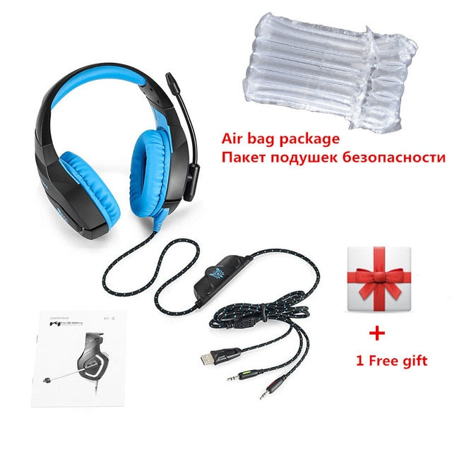ONIKUMA PC Gaming LED Headphones with Omnidirectional Microphone 3.5 mm Stereo