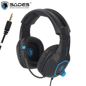 SADES Computer Gaming Headphones for PS4 New Xbox One Controller Laptop Mobile Phone with Mic Bass