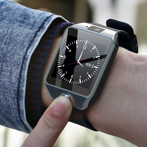 Smartwatch Digital Men Watch For Apple iPhone Samsung Android Bluetooth SIM TF Card Camera