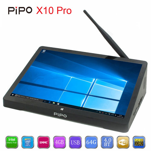 PiPo X10 Pro Mini IPS Tablet PC Dual OS Android Windows 10 TV Box intel Z8350 Quad Core Bluetooth