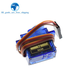 TZT Smart Electronics 1Pcs Rc Mini Micro 9g 1.6KG Servo SG90 for RC 250 450 Helicopter Airplane Car Boat
