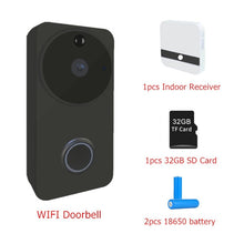 Load image into Gallery viewer, 720P 1.0 MP Wifi Smart Wireless Video Doorbell IP Camera Battery IR PIR Alarm Intercom Home Security