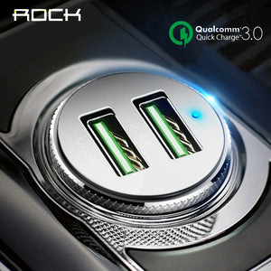 ROCK Car Charger QC 3.0 Quick Charge Dual USB Charger