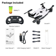Load image into Gallery viewer, Ultrathin Wifi FPV Selfie Drone 720P Camera Auto Foldable Arm Altitude Hold RC Quadcopter VS H37 H47 E57