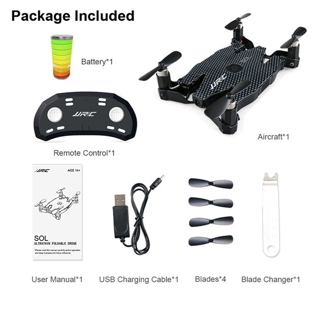 Ultrathin Wifi FPV Selfie Drone 720P Camera Auto Foldable Arm Altitude Hold RC Quadcopter VS H37 H47 E57