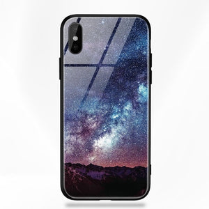 Glass Star Space Silicone Phone Case For iPhone X 6 6s 7 8 10 S XS Plus X