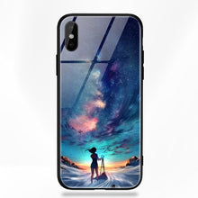 Load image into Gallery viewer, Glass Star Space Silicone Phone Case For iPhone X 6 6s 7 8 10 S XS Plus X